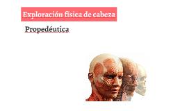Exploración física de cabeza