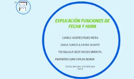EXPLICACIÓN FORMATO FECHA Y HORA