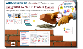 Copy of WIDA Session 2: Using MPIs to Scaffold Content Instruction