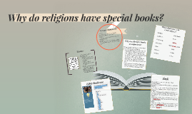 Why do religions have special books?