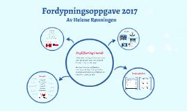 Fordypningsoppgave 2017