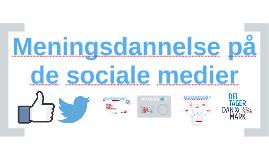 Faglig Meningsdanner 2017: Meningsdannelse på de sociale medier 2016