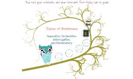 Types of Sentences: Declarative, Imperative, Interrogative, Exclamatory