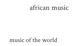 music of the world