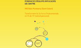 Formació d'equips impulsors de centre - Organització de 1r i 2n d'ESO de l'INS Baix Montseny