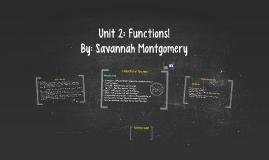 Unit 2: Functions!
