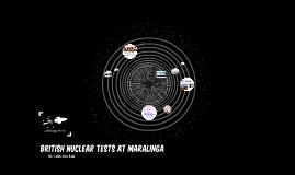 Maralinga Nuclear testing