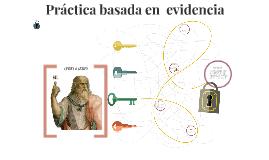 El aprendizaje basado en  evidencia