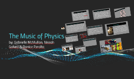 The Music of Physics