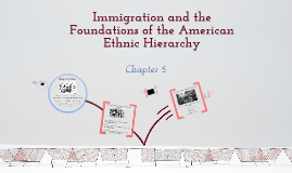 Race and Ethnic Relations: Chapter 5: Immigration and the Foundations of the American Ethnic Hierarchy