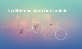 la différenciation horizontale
