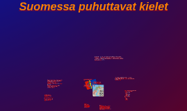 Copy of suomessa puhuttavat kielet