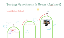 Quantitative Methods - Chapter 7.2: Testing hypotheses and means