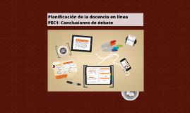 Planificación de la Docencia en Línea (PEC1)