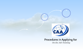 Procedures in Applying for