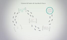 Síntesis del texto de Ana María Vacca