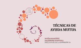 TÉCNICAS DE APOYO MUTUO