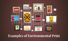 Examples of Environmental Print