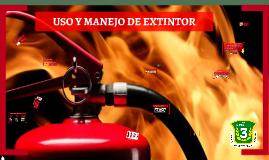Uso y manejo de extintor