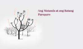 Ang Matanda at ang Batang Paruparo
