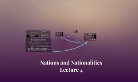Nations and Nationalities Lecture 4