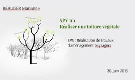 SPV n°1 Réaliser une toiture végétale