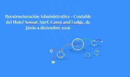 Reestructuración Administrativa - Contable del Hotel Somar,