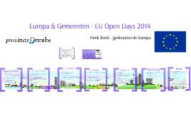 Drenthe & Europa - EUNNL - Brussel 2014
