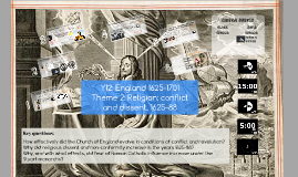 Y12: England Religion: conflict and dissent 1625-1701