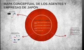 MAPA CONCEPTUAL DE LOS AGENTES Y EMPRESAS DE JAPÓN