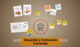 Copy of Desarrollo y Evaluación Currícular
