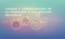 CAUSAS Y CONSECUENCIAS DE LA RADIACIÓN Y SUS EFECTOS NEGATIV