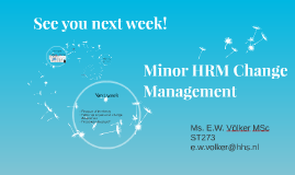 Change Management week 1