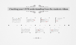 Check your understanding of CEFR from the studnets videos