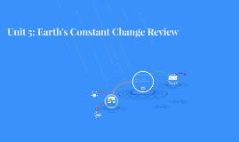 Unit 5: Earth's Constant Change Review