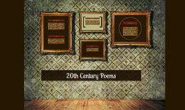 20th Century Poems