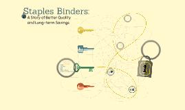 Staples Binders: