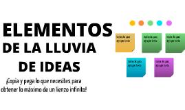 Plantilla - Elementos de Lluvia de Ideas de Diana Flores