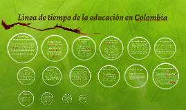 Copy of Linea de tiempo de la educación en colombia