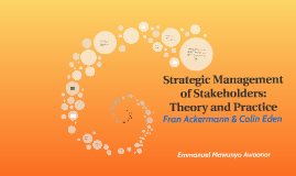 Strategic Management Of Stakeholders