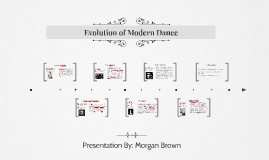 Evolution of Modern Dance