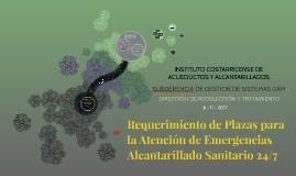 Requerimientos de Plazas para la Atención 24/7