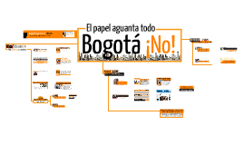 El papel aguanta todo, Bogotá ¡No!