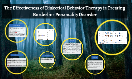 The Effectiveness of Dialectical Behavior Therapy in Treatin