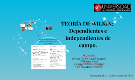 TEORÍA DE WILKIN: