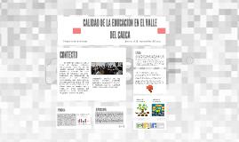 CALIDAD DE LA EDUCACIÓN EN EL VALLE DEL CAUCA