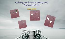 Hydrology and Erosion Management Rational Method