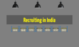 Recruiting in India