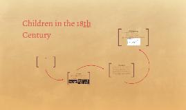 Children in the 18th Century
