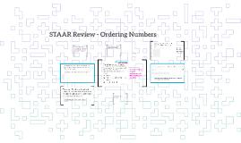 STAAR Review - Ordering Numbers